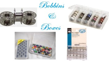 Sewing Bobbins and Bobbin Box Organizers