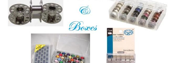 Sewing Bobbins and Bobbin Box Organizers