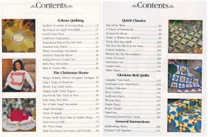 Weekend Quilting Table of Contents