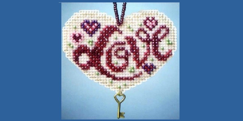 Valentine's Day Beaded Cross Stitch Kits