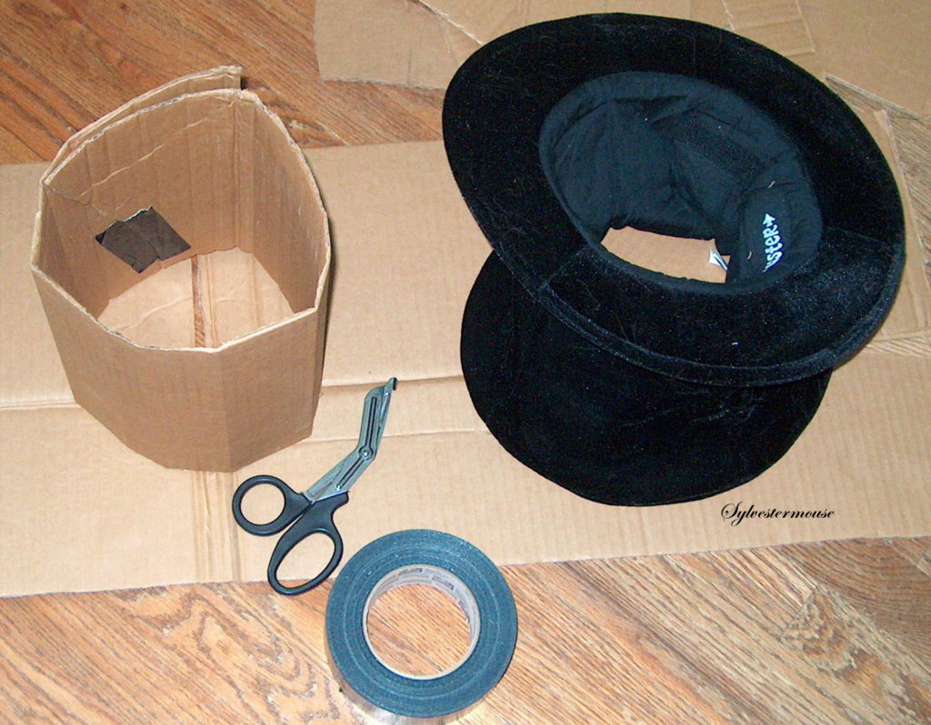 How to Make a Mad Hatters Top Hat - Stabilizing the hat - Shape Cardboard