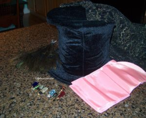 Supplies for Mad Hatter's Hat DIY Instructions