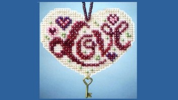Valentine's Day Beaded Cross Stitch Kits