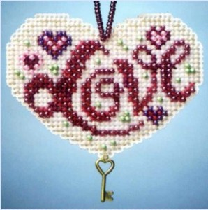 Beaded Cross Stitch Valentine Kits