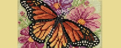 Floral Beaded Cross Stitch Kits Or Add Beads to Any Cross Stitch Kit