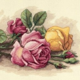 floral beaded cross stitch kit
