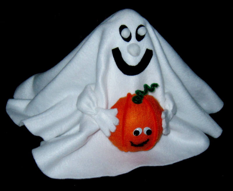 How to Make a Halloween Ghost with Fleece
