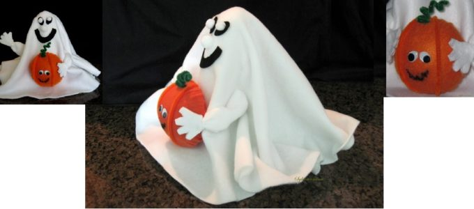 How to Make a Halloween Ghost with Fleece Tutorial