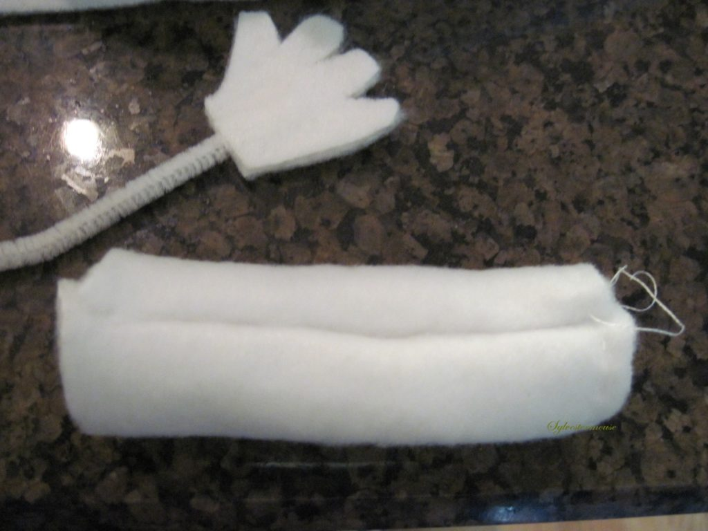 Making the Hand for the DIY Fleece Halloween Ghost