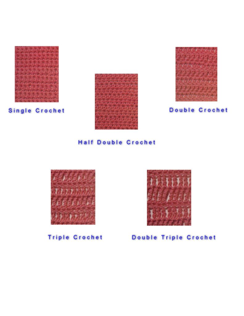 Ilustrations of Crochet Samples