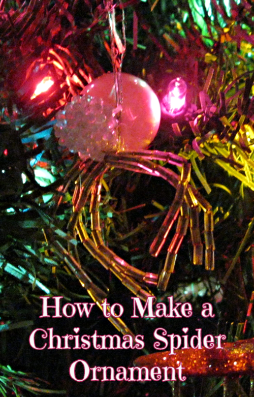 Christmas Spider Ornament Tutorial