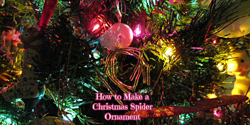 How to Make a Christmas Spider Ornament